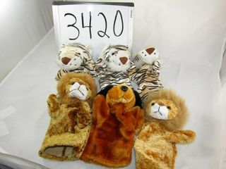 Tigers 6 hand puppets