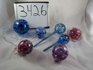 Made Romania  art glass balls   and plant waterin