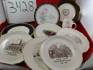 Group of local church plates   mug  2  50th Groupe