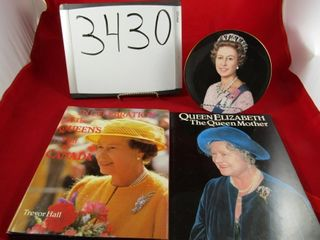 Pair of books on Queen Elizabth  I   one plate Pe