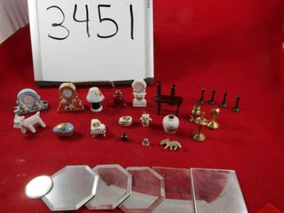 Miniature lot  limoges Occupied Japan  Brass
