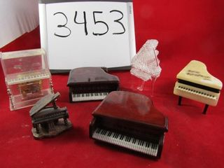 Piano lot  Glass  plastic  wooden Marble