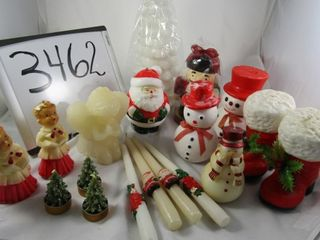 Group of Christmas candles  some new