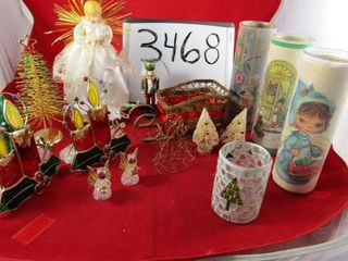 Assorted Christmas  Column vintage candles  3