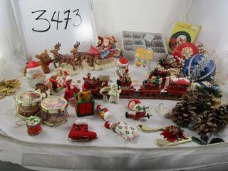 Christmas decor  Santa   Sliegh  Santa train