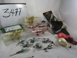 lot of Glass bird tree decorations some vintage