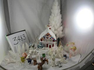 Christmas Decor  Ginger Bread house lights