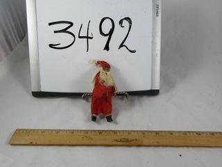 Papier Mache Santa Vintage 5  H