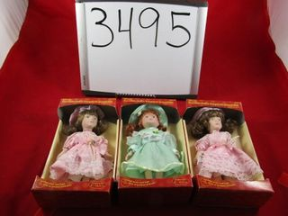 3  Porcelain Dolls new 6  H