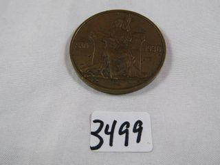 1930 Iceland 2 Kroner Athing Millennium Bronze
