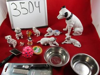 Assortment of dog figures one is Rosenthal