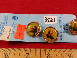 RMCP lapel pins pins new old stock