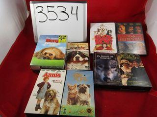 DVD  4 VHS  5 lot