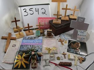 Religious lot  crosses  figures  mini bibles