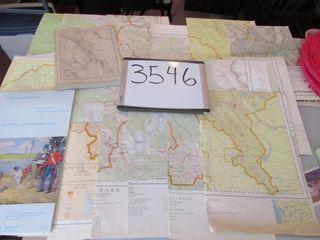 Group of maps  lake louise  Parks    Glacier  Jas