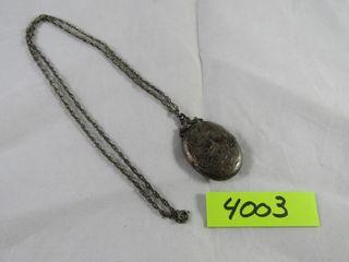 Sterling locket 1963  15 27 grams