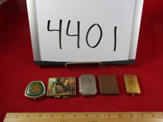 Group of compacts  mini frame   and pill holders