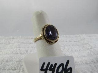 Birks 10 kt y g ring   size 6 5   4 53 grams
