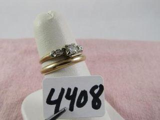 Wedding set 14 kt  band 2 26 grams   engagement