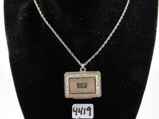 Sterling locket 22 68 grams