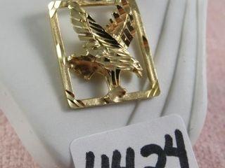 10 kt eagle charm 1 67 gram