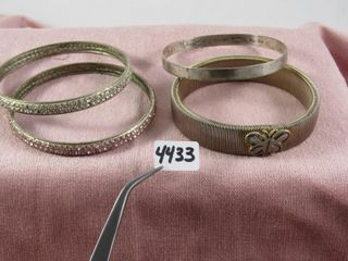 Fashion Jewellery  3 Silver Toned Bangles