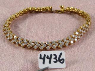 Fashion Jewellery  Gold Tone Tennis Bracelet