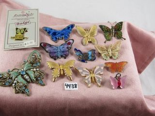 Fashion Jewellery  12 Butterfly Brooches