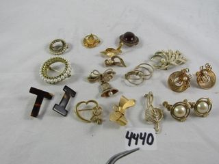 Fashion Jewellery  Gold Tone Brooches and Earrings