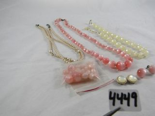 Fashion Jewellery  Pearlized Necklaces   Earrings