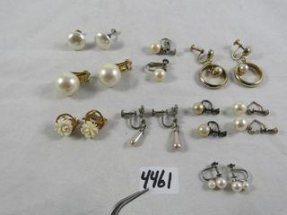 lot of pearl earrings