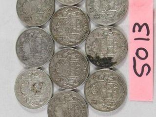 10 Canadian half dollar  3 x 1946