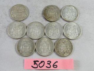10  Canadian Half Dollar 1x 1953