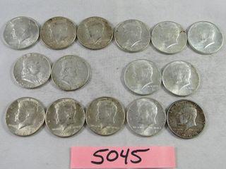 13  1964 US Half dollar  2 x 1965 US half dollars