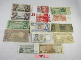 Foreign paper currency  Seyehelles  Etiopia