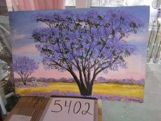 Oil on Canvas   landscape signed