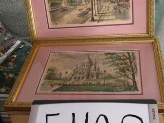 le Sacre Coeur  signed Gabrielle ArtantIJ framed