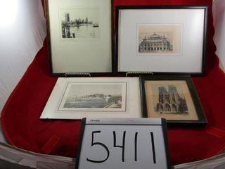 4 prints Architectural