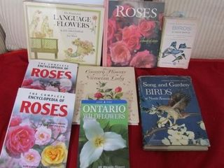 Group of Flower and bird books