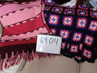 Pair of crocheted afghans