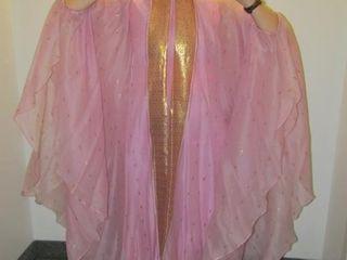 Vintage lingerie  caftan with liner slip   butter