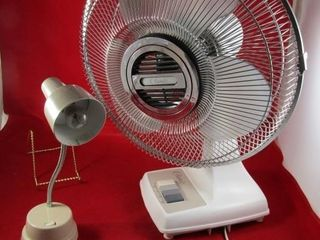 Classic table top fan and desk light