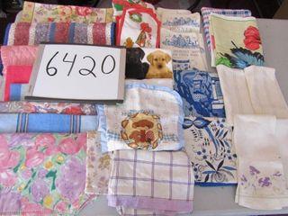 linen tea towels  place mats  aprons  open mitts