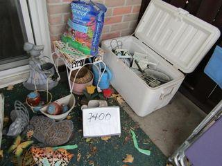 Coleman Cooler   contents of balcony garden items