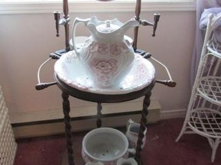 Washstand and basin and bowl set
