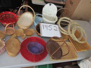 lot of baskets  sweet grass