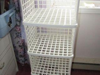 Plastic storage stand 16 5  x 15 25  x 47
