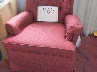 Burgundy Rocker swivel arm chair