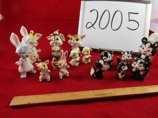 Japan ware animal figures  15 units