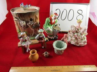 lot  Japan ware pocket vase  planter  2